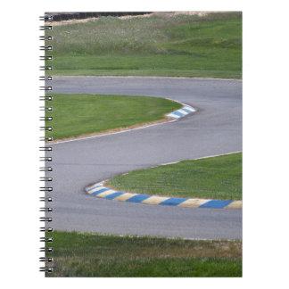 Kart Bahn Spiral Notizblock