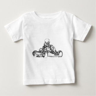 Kart laufende Bleistift-Skizze Baby T-shirt