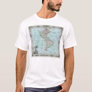 Karte 1764 des Amerikas durch Louis Brion de la T-Shirt