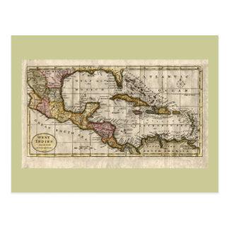 Karte 1790 der Antillen durch Dilly und Robinson