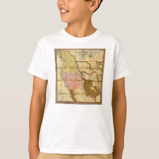 Karte 1846 von Texas Oregon Kalifornien durch T-Shirt