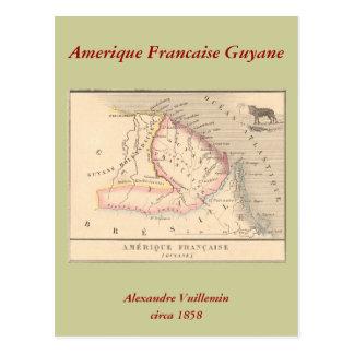 Karte 1858 von Amerique Francaise (Guyane), Guyana