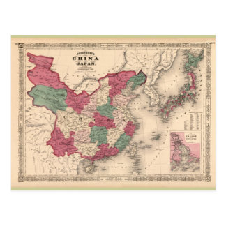 Karte 1868 - Johnsons China und Japan