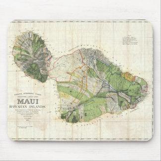 Karte 1885 De Witt Alexander von Maui, Hawaii Mauspad