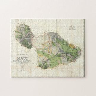 Karte 1885 De Witt Alexander von Maui, Hawaii Puzzle