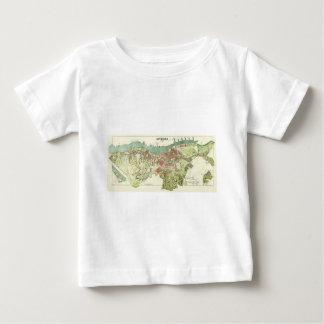 Karte 1888 von Gothenburg Schweden durch Ludvig Baby T-shirt