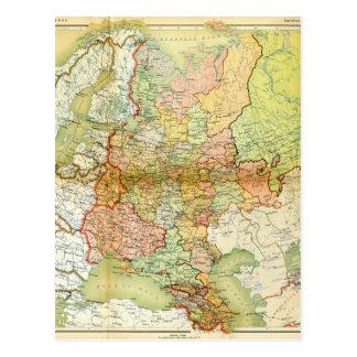 Karte 1928 von der alten Sowjetunion UDSSR Postkarten