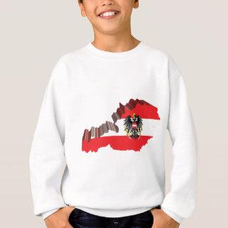 Karte 3D von Österreich Sweatshirt