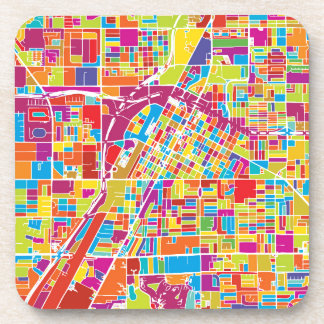 Karte bunten Las Vegass, Nevada Getränkeuntersetzer