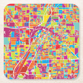 Karte bunten Las Vegass, Nevada Rechteckiger Pappuntersetzer