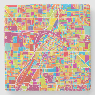 Karte bunten Las Vegass, Nevada Steinuntersetzer