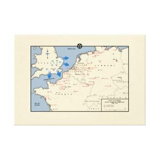 """Karte der amerikanischen """"mächtigen achten"""" leinwanddruck"""
