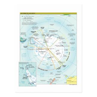 Karte der antarktischen Region