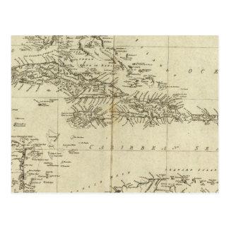 Karte der Antillen
