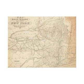 Karte der Eisenbahnen des Staat von New York Leinwanddruck