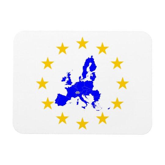 Karte der Europäischen Union mit Sternenkreis Magnet
