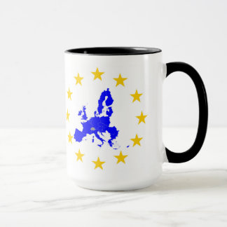 Karte der Europäischen Union mit Sternenkreis Tasse