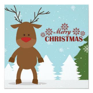 Karte der frohen Weihnachten Quadratische 13,3 Cm Einladungskarte
