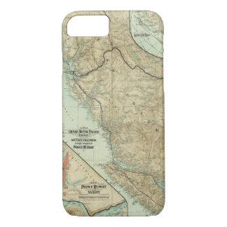 Karte der großartigen Stamm-Pazifik-Eisenbahn iPhone 8/7 Hülle