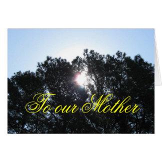 Karte der Mutter Tages- von aller Familie