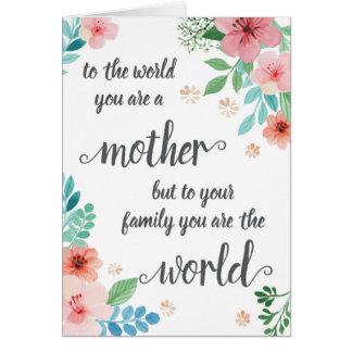 Karte der Mutter Tages, zur Welt sind- Sie eine