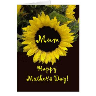 Karte der Mutter Tagesmit der Sonnenblume -