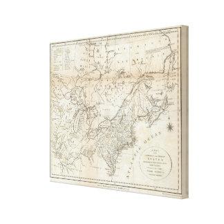 Karte der Nord- und mittleren Staaten 2 Leinwanddruck