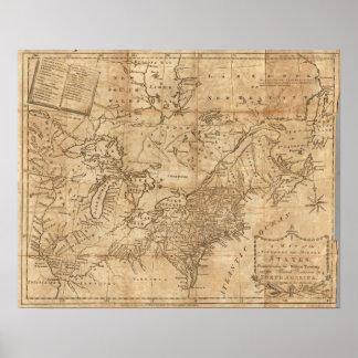 Karte der Nord- und mittleren Staaten 2 Poster