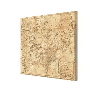 Karte der Nord- und mittleren Staaten Gespannter Galeriedruck