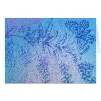 Karte der reizenden blauen Schmetterlings- u.