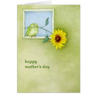 Karte der Sonnenblume-Vogel-Mutter Tages