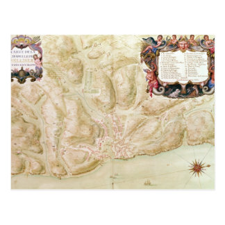 Karte der Stadt und der Zitadelle von Bellisle