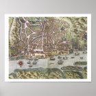 Karte der Stadt und des portugiesischen Hafens von Poster