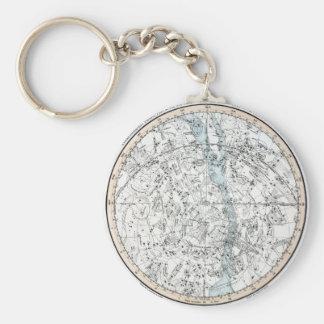 Karte der südliche Hemisphäre-Platte XXVIII Schlüsselanhänger