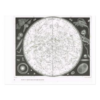 Karte der südlichen Himmel