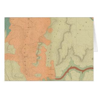 Karte der Uinkaret Hochebene-Südhälfte