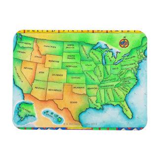 Karte der USA Vinyl Magnet
