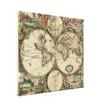 Karte der Welt 1689 - durch Gerard Van Schagen Gespannte Galeriedrucke