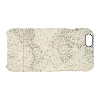 Karte der Welt 2 Durchsichtige iPhone 6/6S Hülle