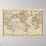 Karte der Welt 2 Poster