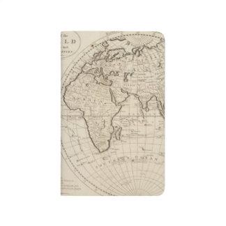 Karte der Welt 2 Taschennotizbuch