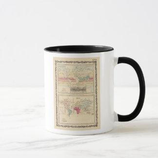Karte der Welt 2 Tasse