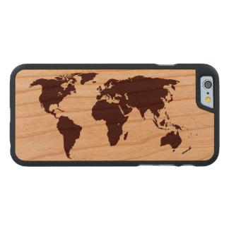 Karte der Welt Carved® iPhone 6 Hülle Kirsche