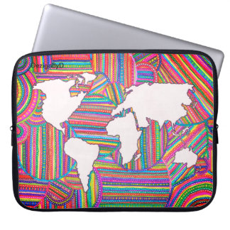 Karte der Welt Laptop Sleeve