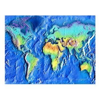 Karte der Welt Postkarten