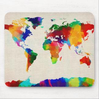 Karte der Weltkarte von den alten Noten Mousepad