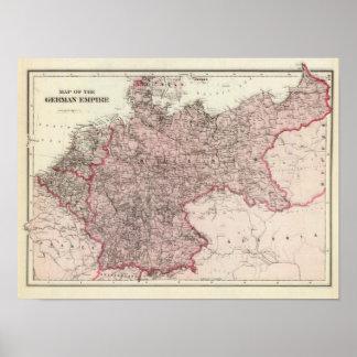 Karte des deutschen Reiches Poster