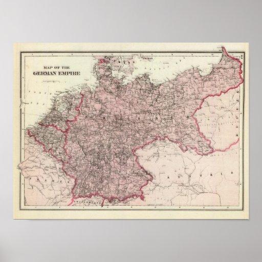 Karte des deutschen Reiches Plakat