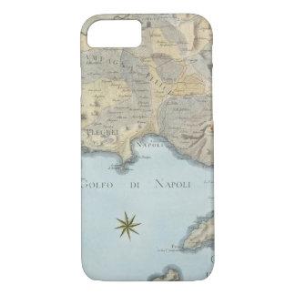 Karte des Golfs von Neapel und von Umgebung iPhone 8/7 Hülle