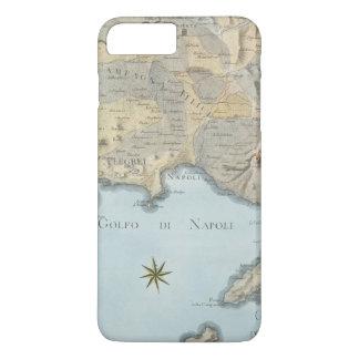 Karte des Golfs von Neapel und von Umgebung iPhone 8 Plus/7 Plus Hülle